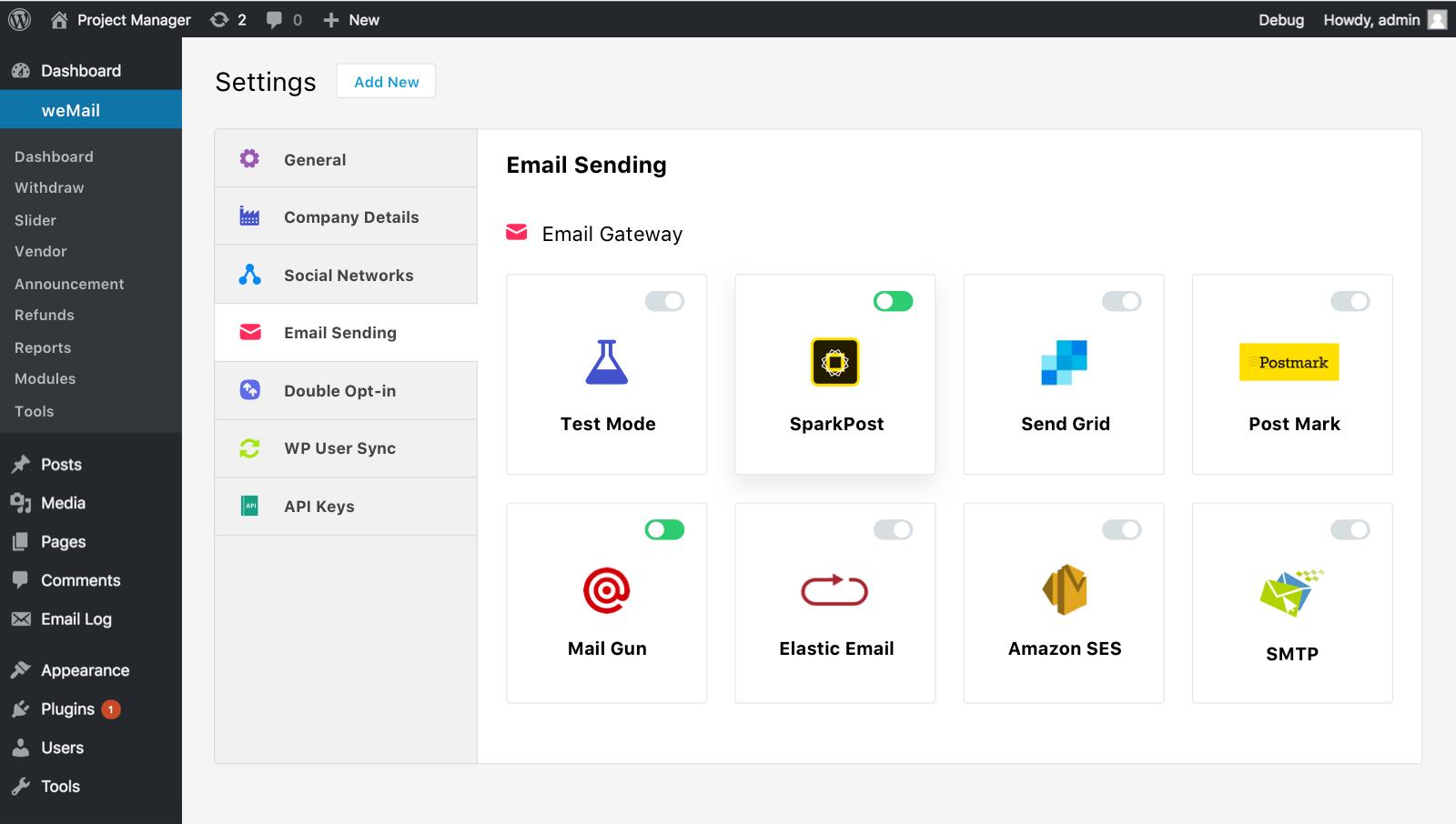 Multiple Email Sending Gateway Compatible