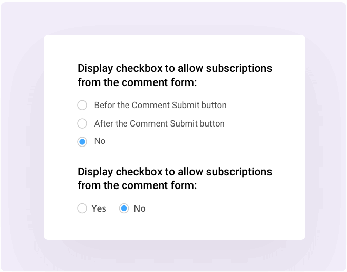 Subscription Notification