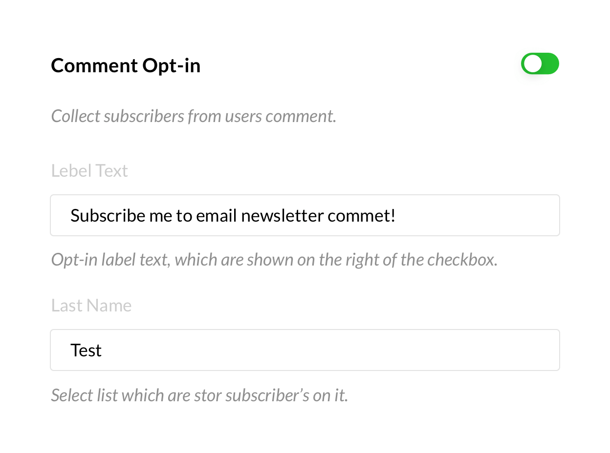 Comment Opt-in