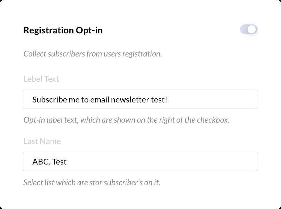 Registration Opt-in