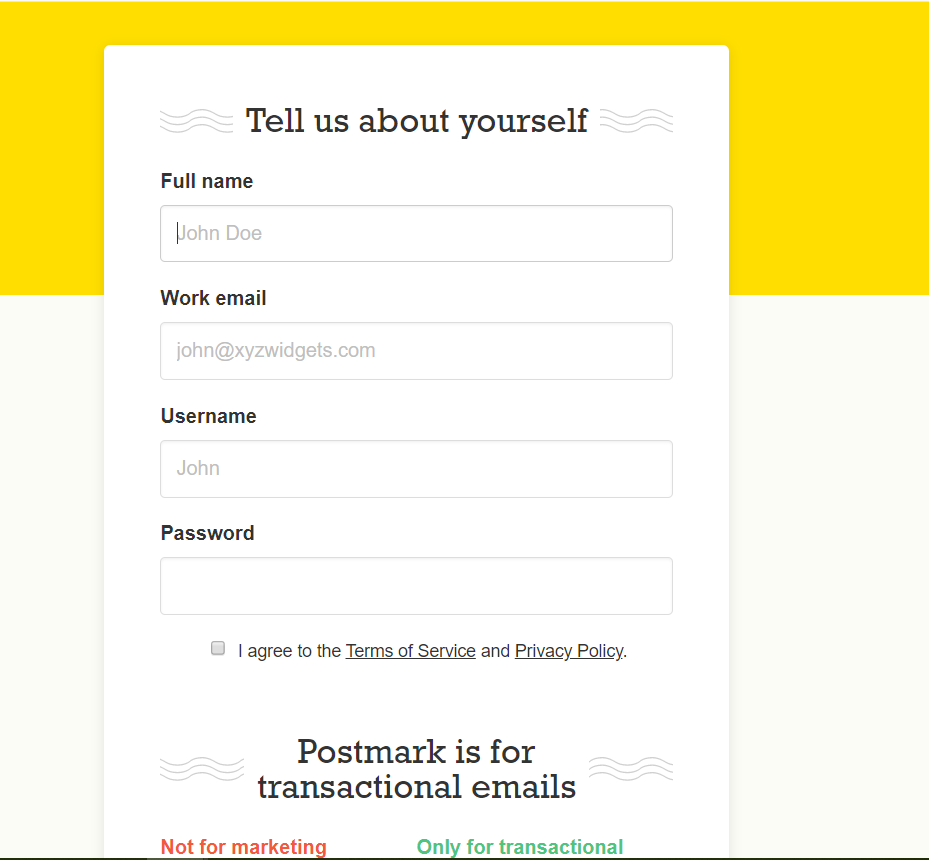 PostMark Account