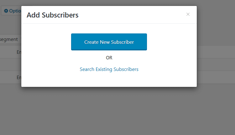 Create New Subscriber