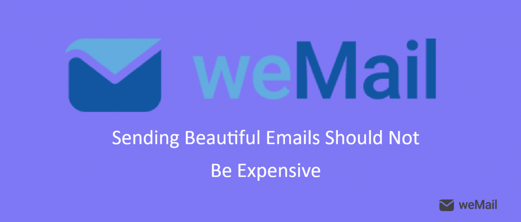 weMail email newsletter