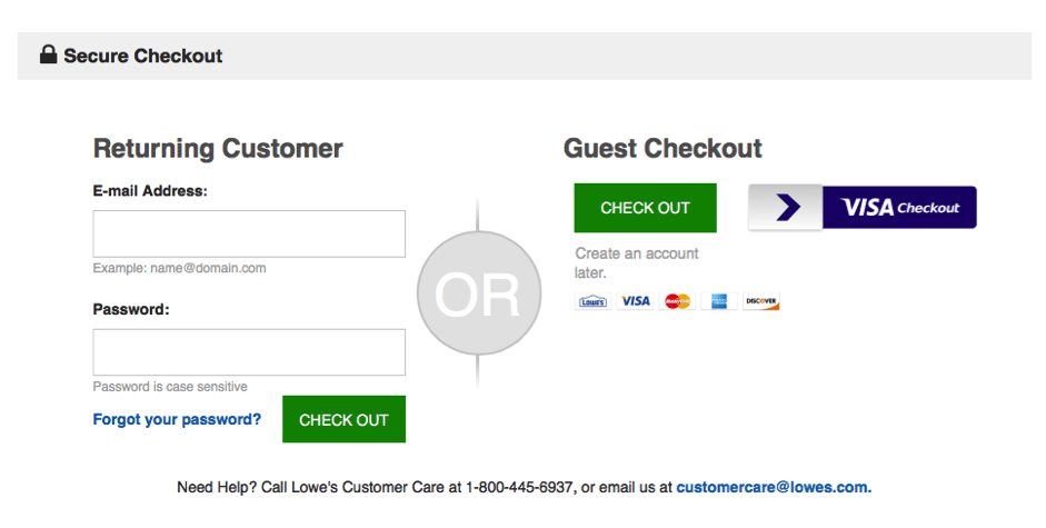 Enable guest checkout