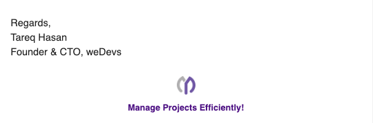 wp project manager email