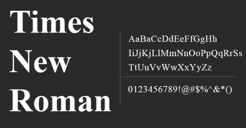 Times New Roman fonts in email marketing