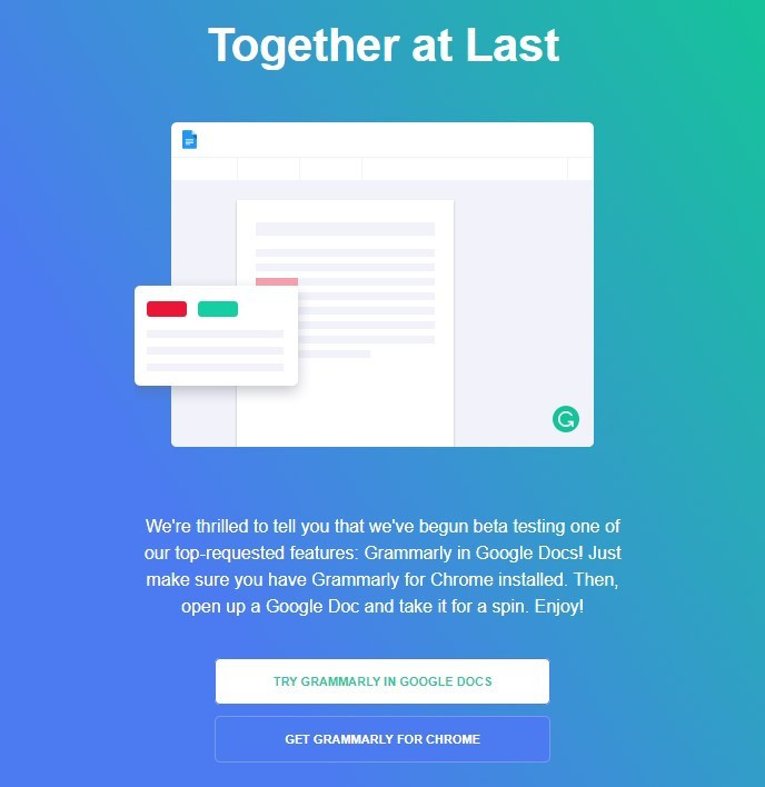 Grammarly email campaign