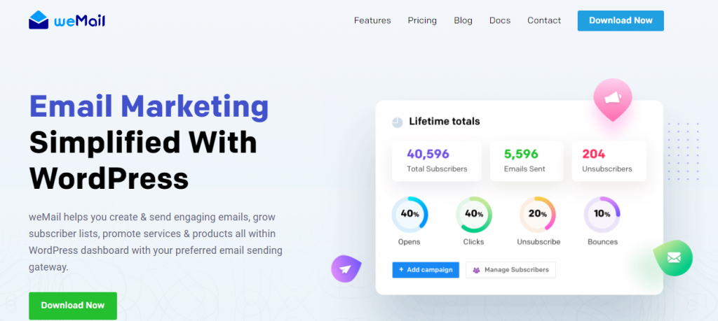 weMail- Email Marketing simplified with wordpress