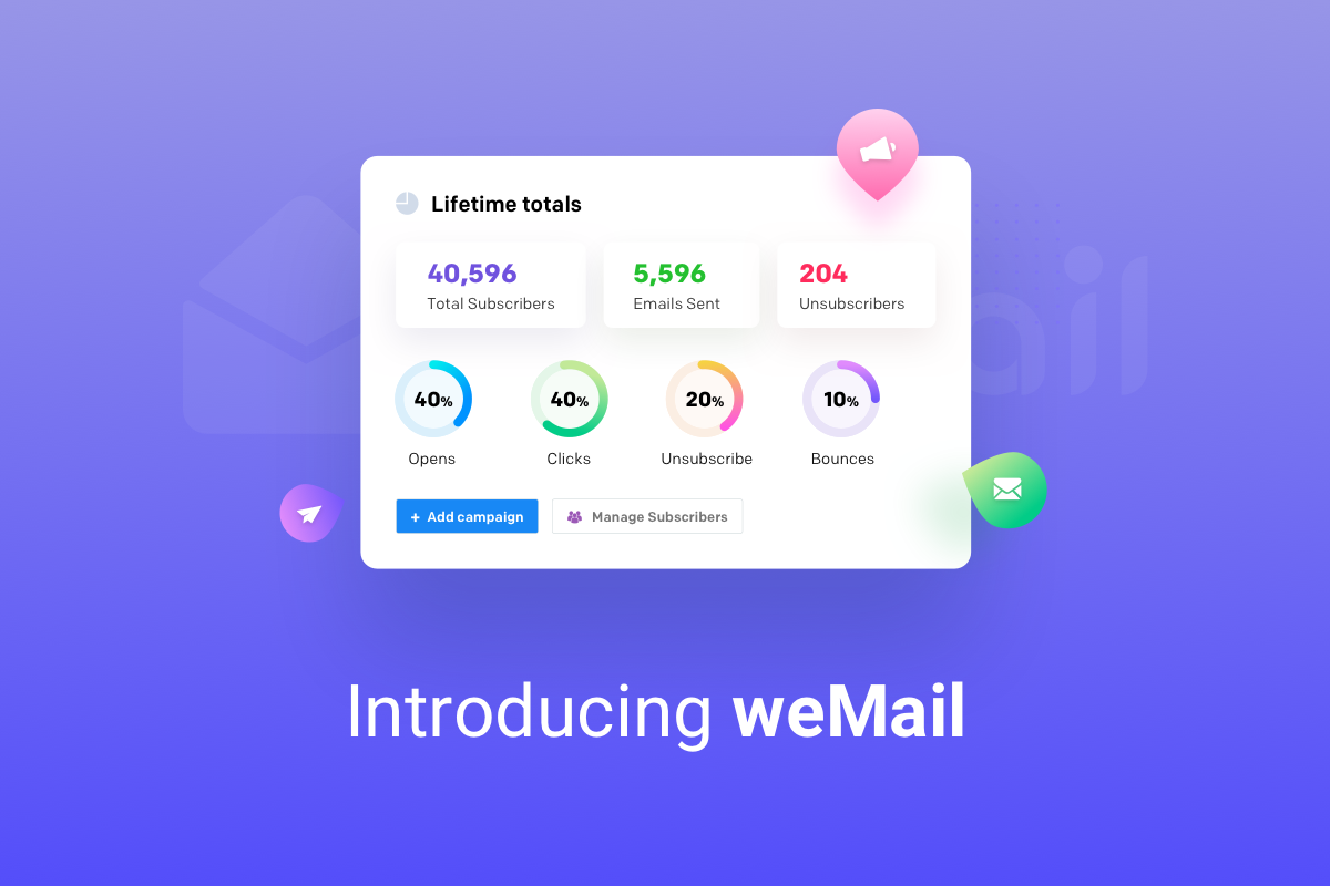 Using weMail you can manage your business