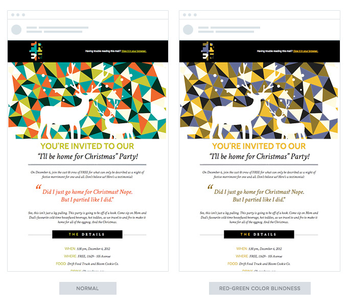 Examples of Email color