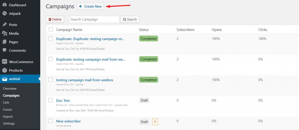Step 1: Create and Setup New Campaign