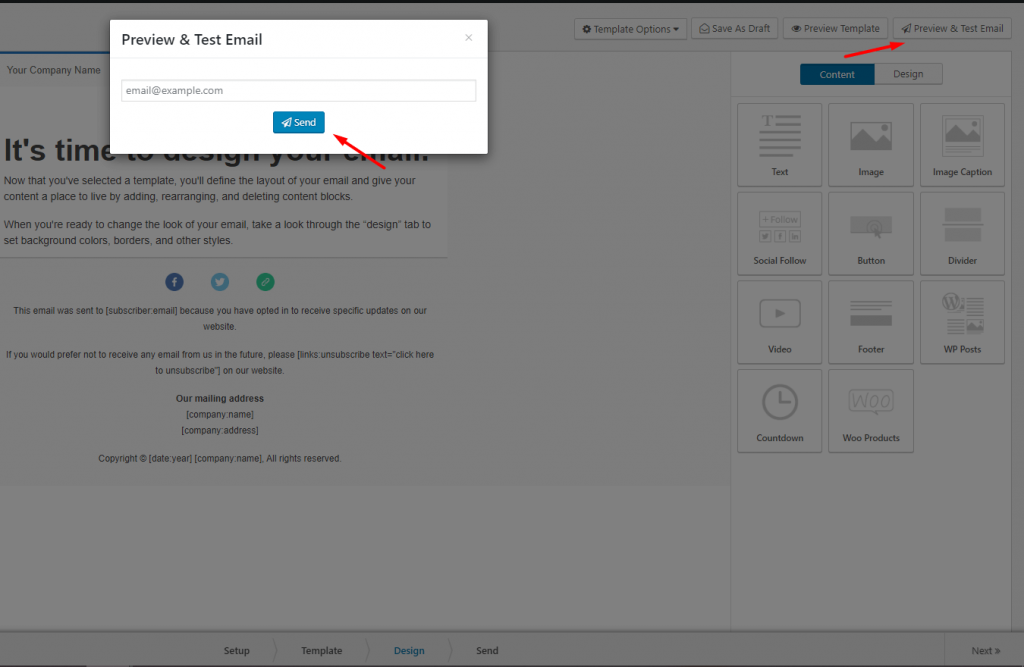Step 4: Preview and Test Email