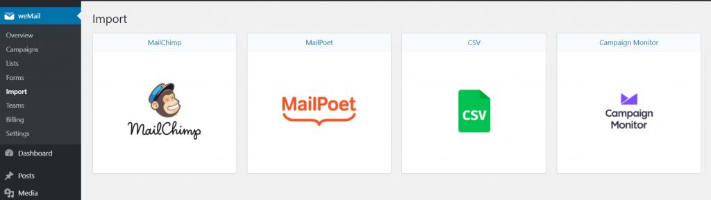 weMail integration