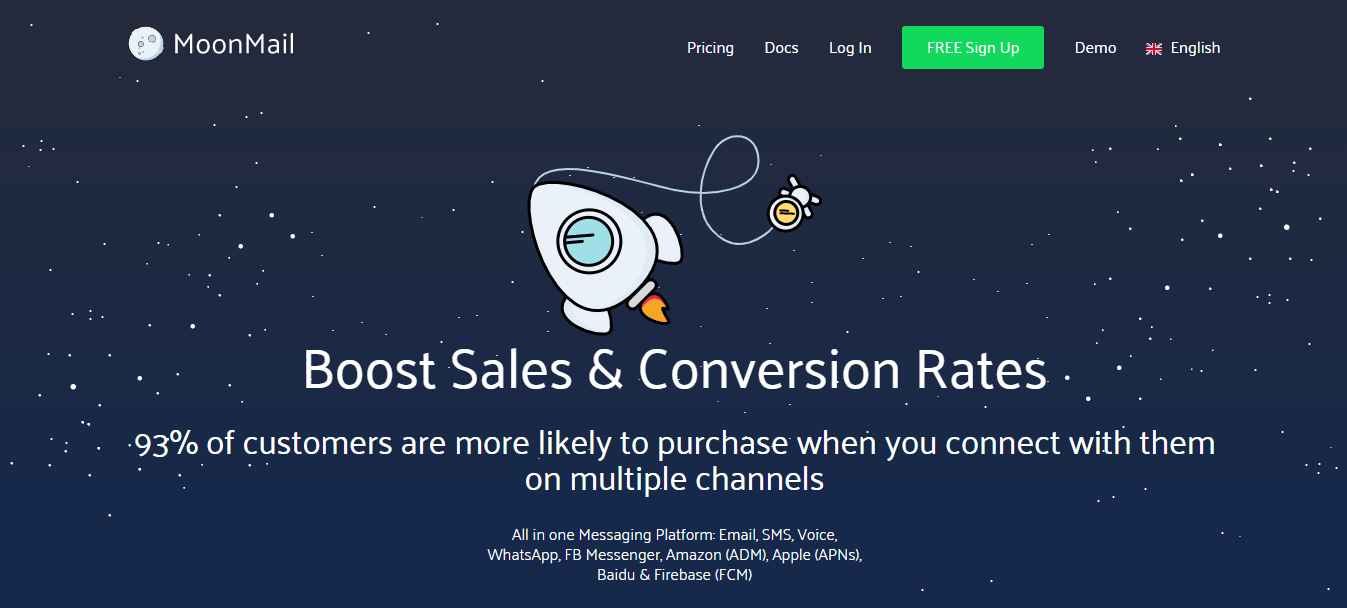 Email marketing software MoonMail
