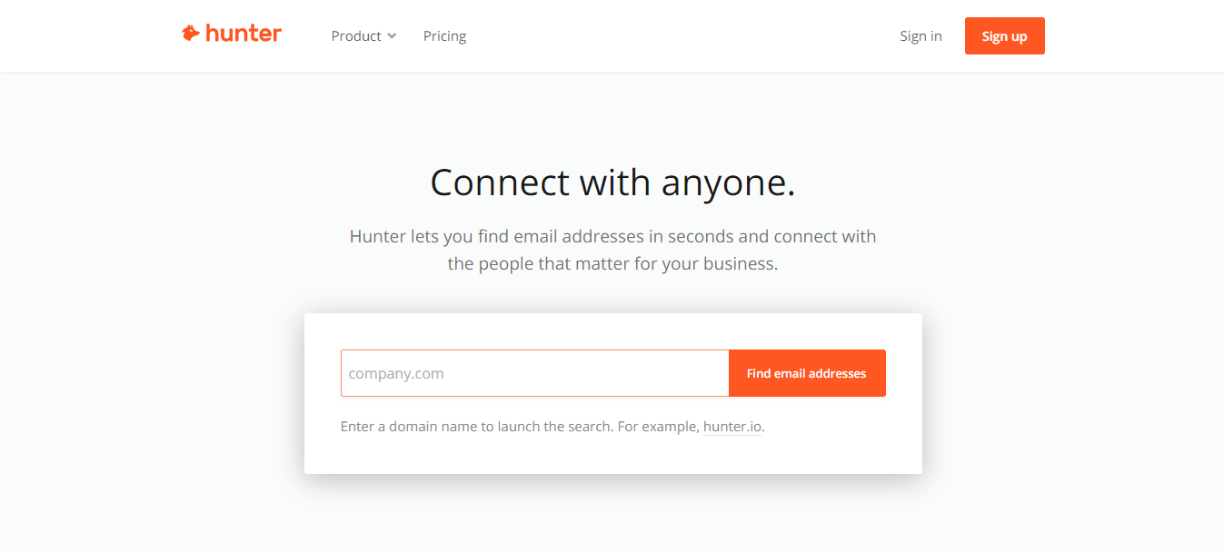 Hunter Email finder compny