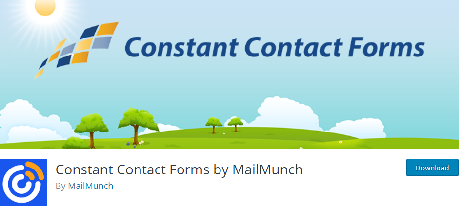 Constant Contact email plugin for WordPress