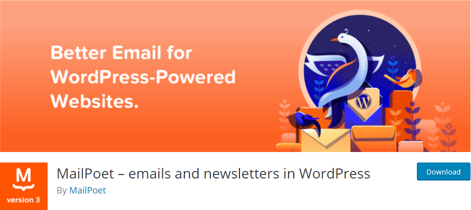 MailPoet email plugin for WordPress