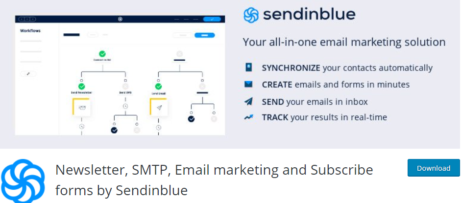 SendinBlue email plugin for WordPress