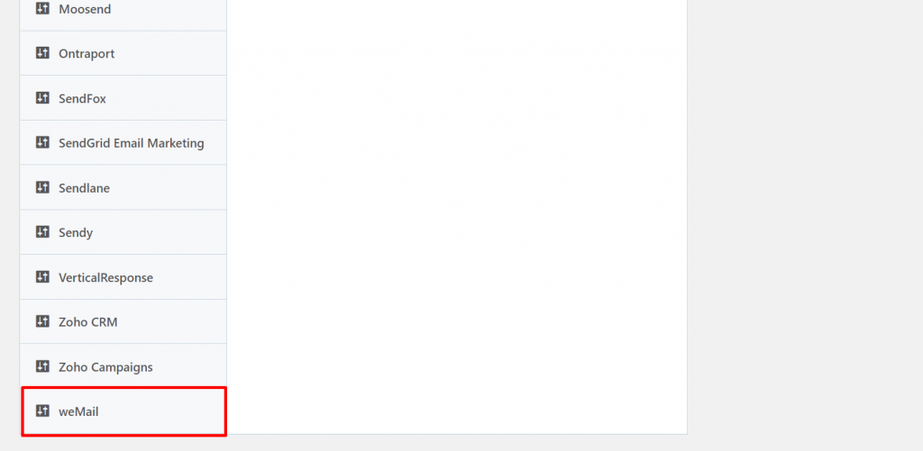weMail option