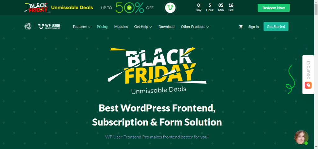 WP User Frontend - Up To 50% Off