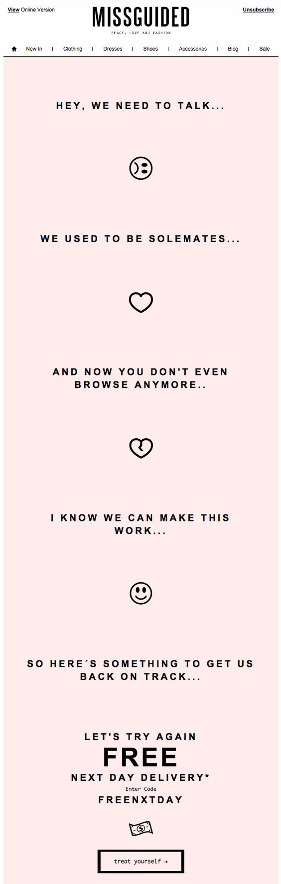 Missguided - Email Marketing Campaign