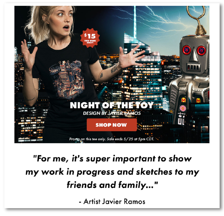 Threadless - Email Marketing Campaign