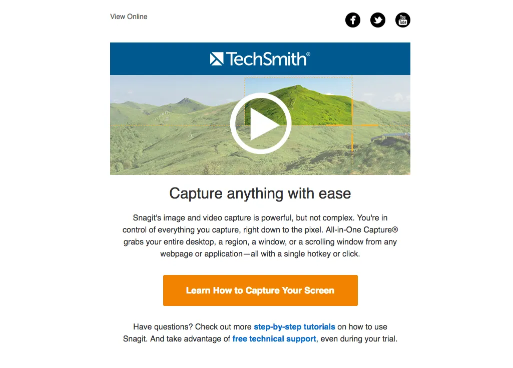 TechSmith - Email Marketing Campaign