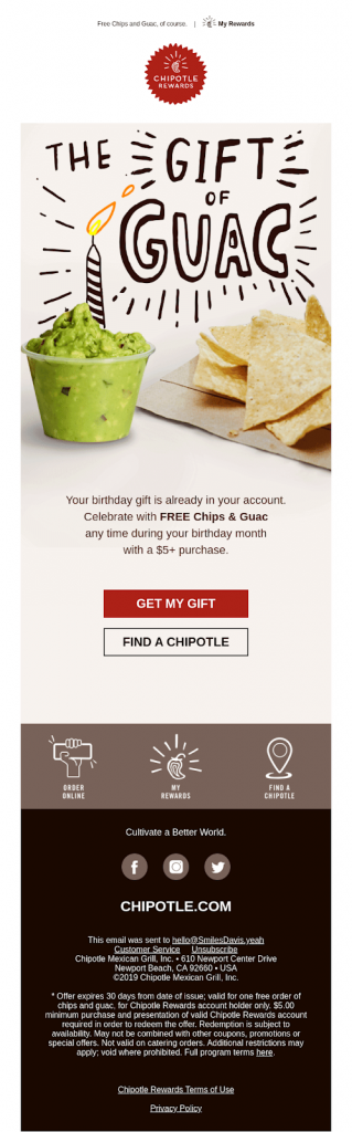 Chiptole - Email Marketing Campaign