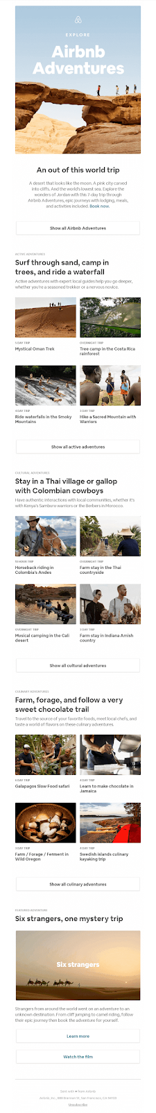 Airbnb - Email Marketing Campaign