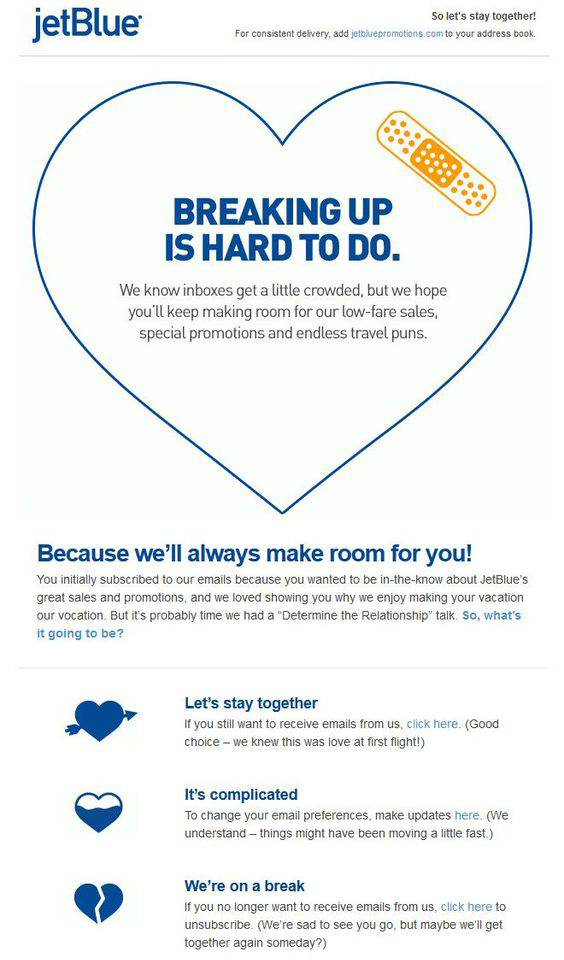 jetBlue - Email Marketing Campaign for Dormant