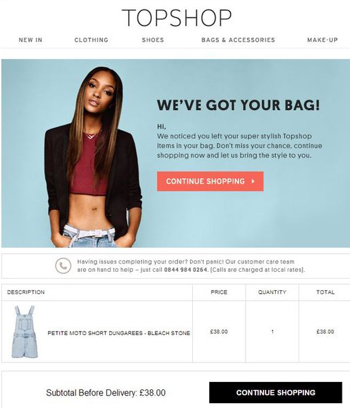 Topshop - Email Marketing Campaign