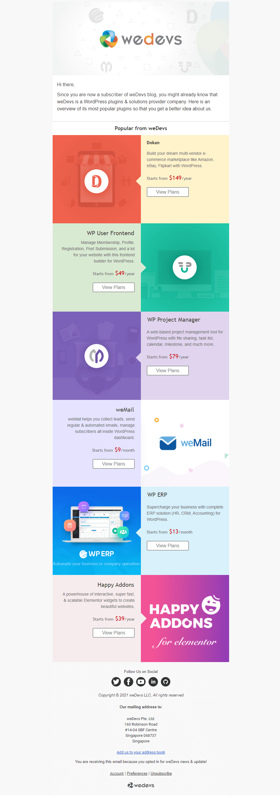 weDevs use email automation