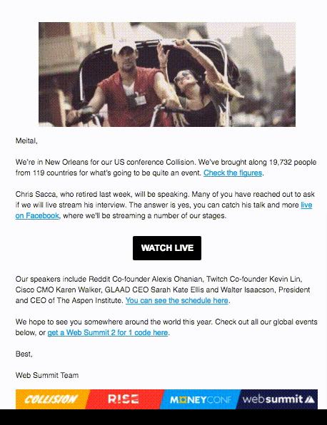 Event's Video sending