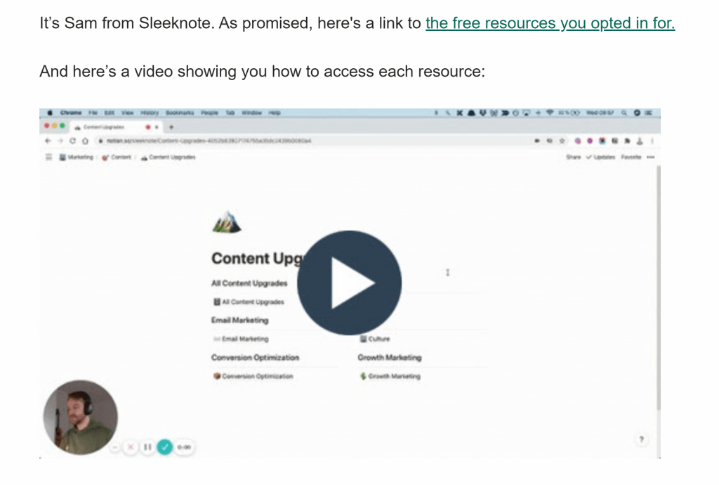 Sleeknote how to create a welcome email