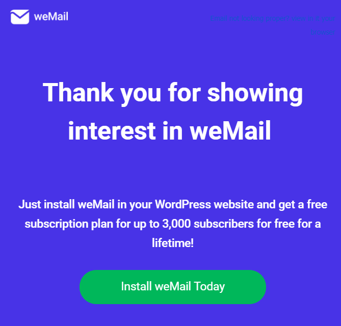 wemail-welcome-message