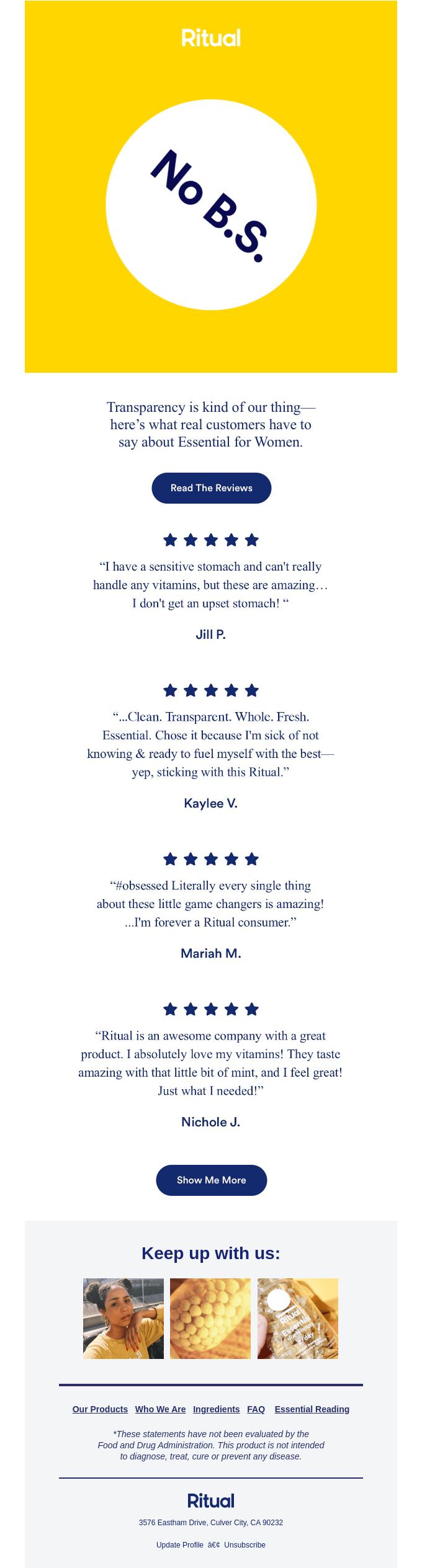 using customer testimonials in email